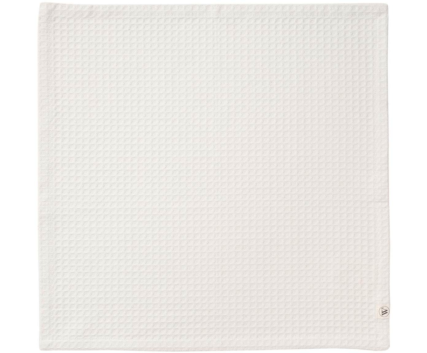 Serwetki z bawełny Cubes, 6 szt., Bawełna, Złamana biel, S 50 x D 50 cm