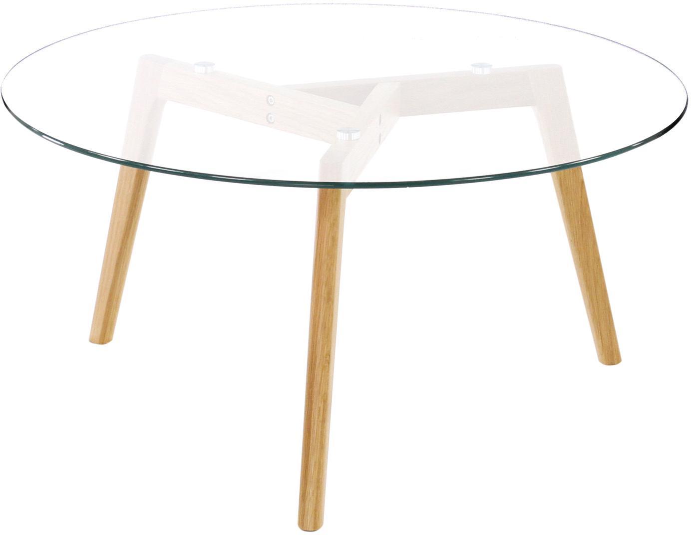 Ronde salontafel Bloom met glazen tafelblad, Tafelblad: glas, Transparant, Ø 90 x H 40 cm