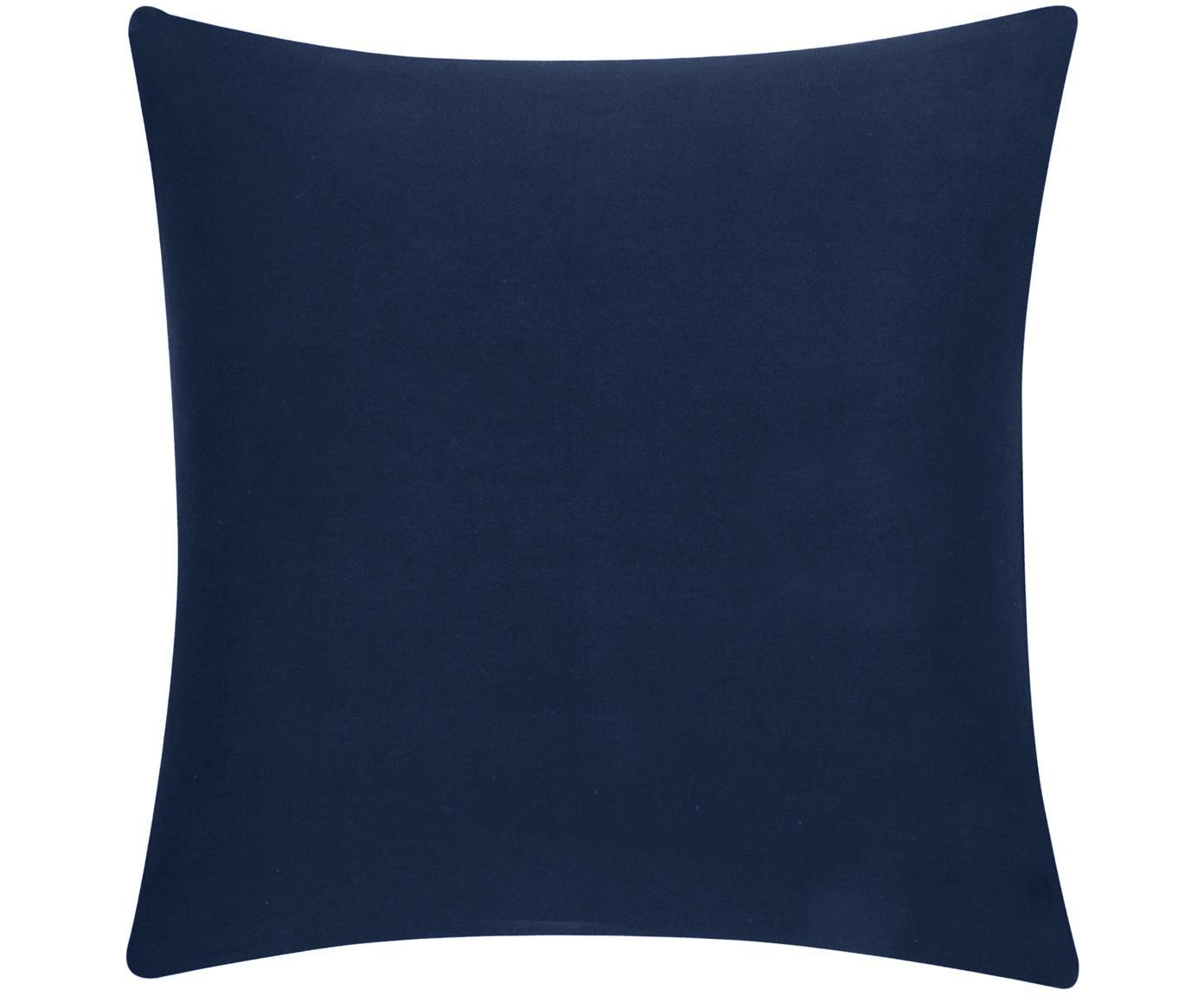 Baumwoll-Kissenhülle Mads in Navyblau, 100% Baumwolle, Navyblau, 50 x 50 cm