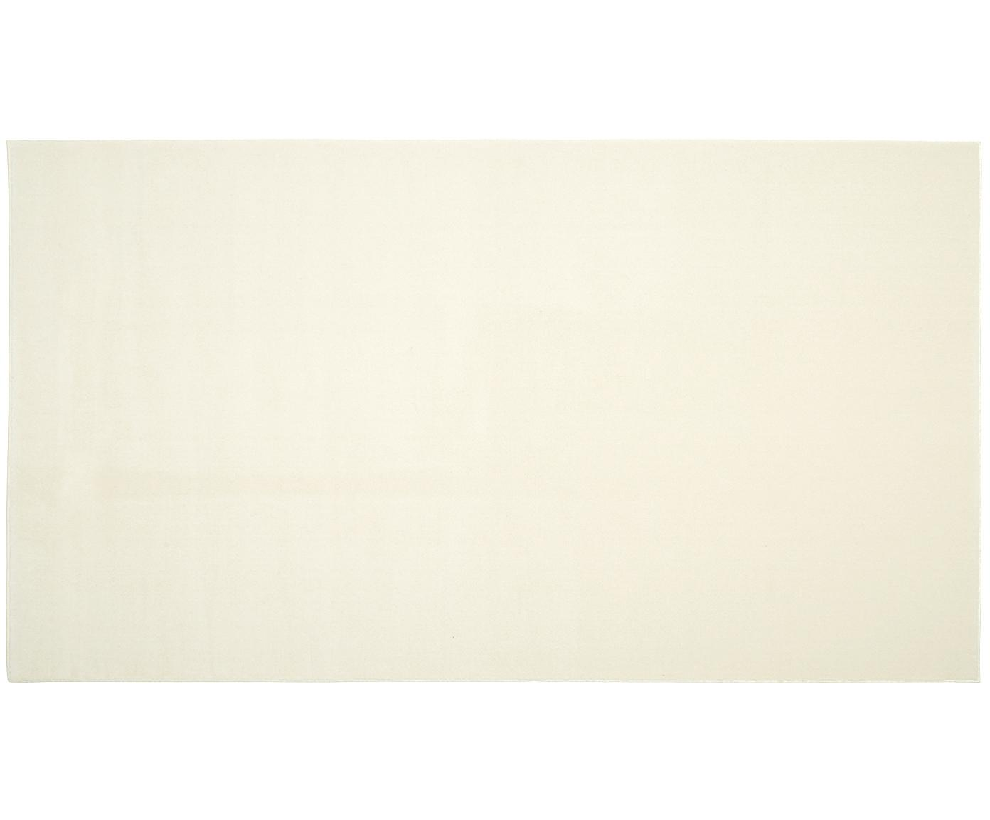 Wollen vloerkleed Ida in beige, Bovenzijde: wol, Onderzijde: polyester, Beige, B 60 x L 110 cm (maat XXS)