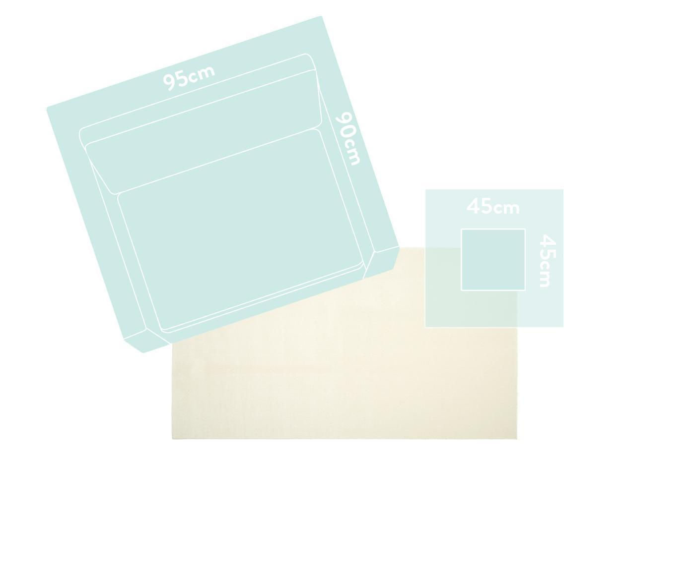 Wollen vloerkleed Ida in beige, Bovenzijde: wol, Onderzijde: polyester, Beige, B 300 x L 400 cm (Maat XL)