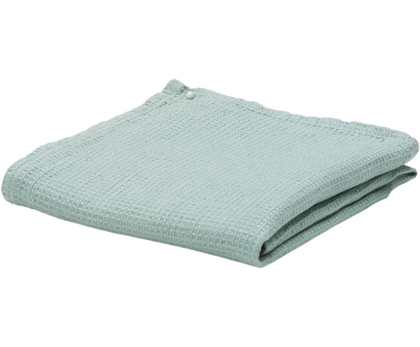 Leichtes Leinen-Handtuch Java in verschiedenen Größen, Waffelpiqué, Mintgrün, Gästehandtuch