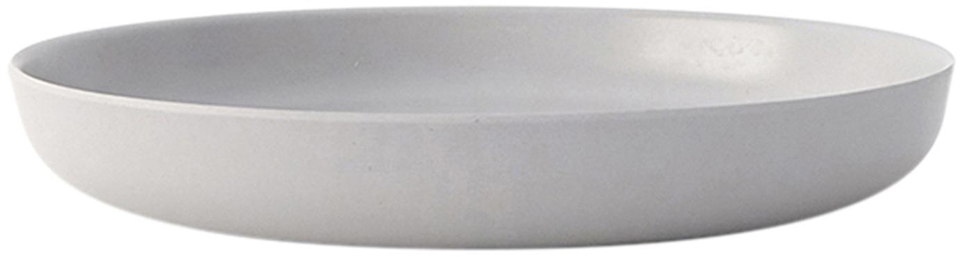 Ontbijtborden Bambino, 2 stuks, Bamboehoutvezels, melamine, voedselveilig BPA-, PVC- en ftalatenvrij, Lichtgrijs, Ø 18 x H 3 cm