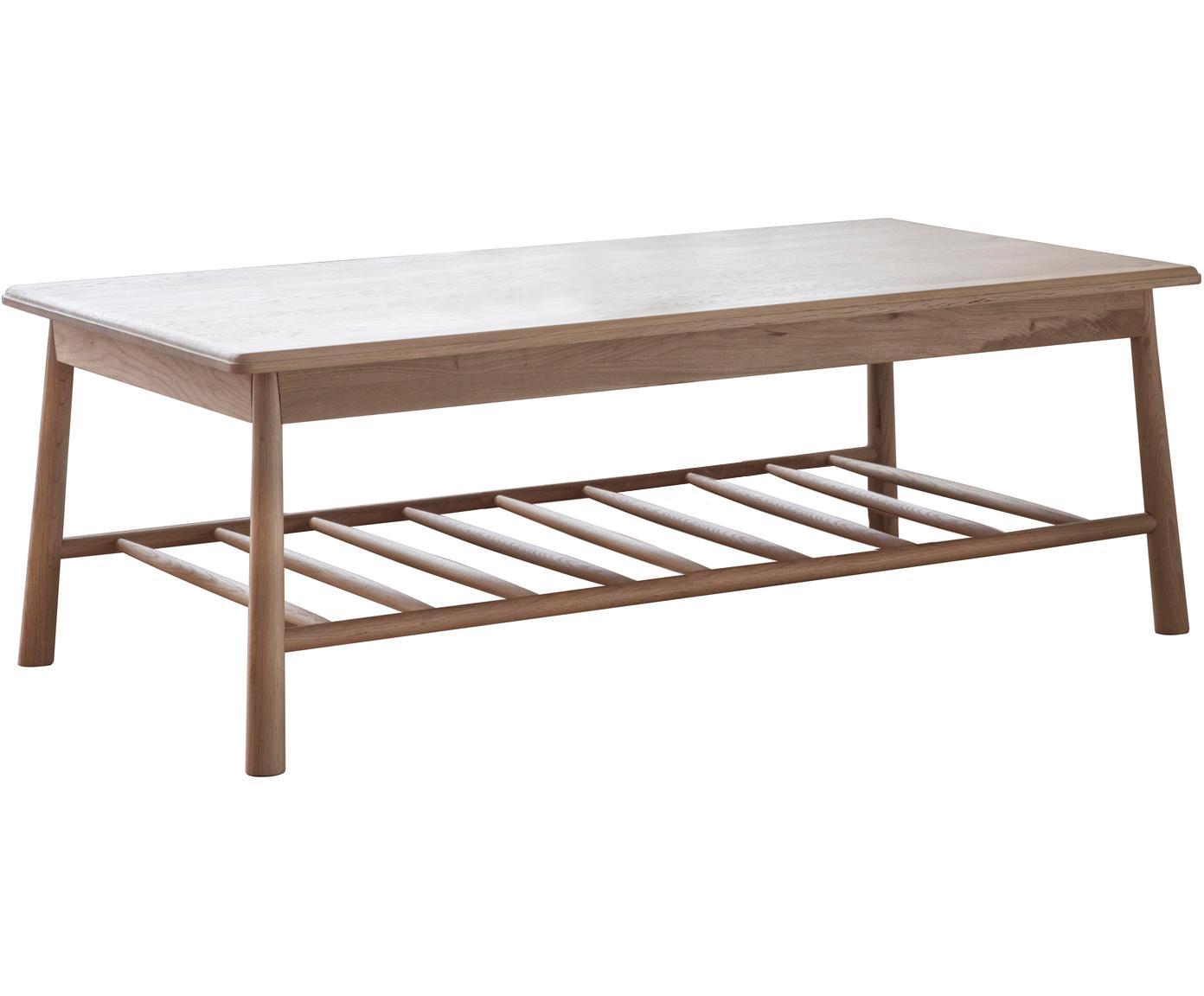 Stolik kawowy z drewna dębowego Wycombe, Drewno dębowe, S 120 x G 65 cm