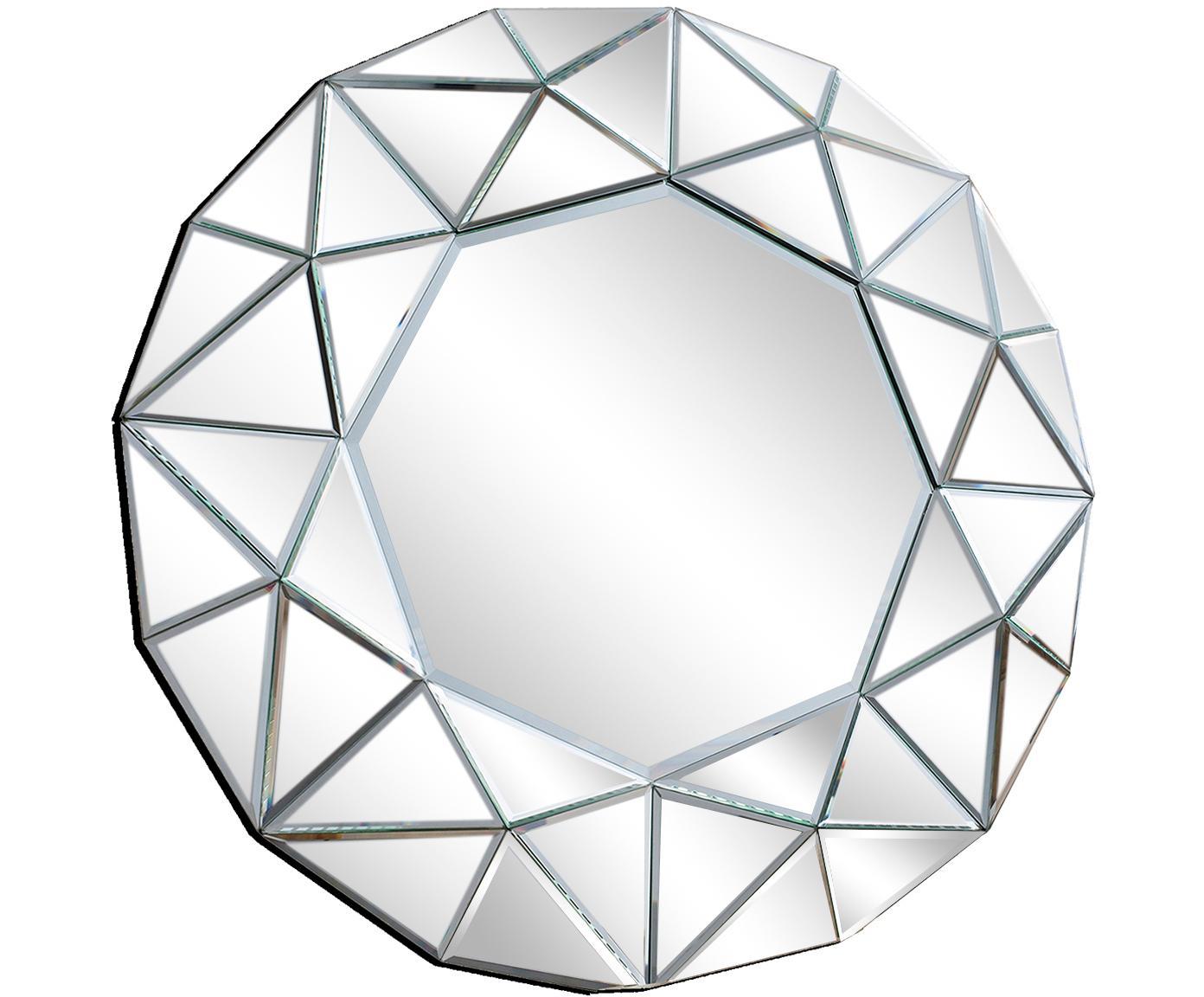 Specchio da parete con cornice in vetro Zaragoza, Retro: pannello di fibra a media, Vetro a specchio, Ø 70 x Prof. 5 cm