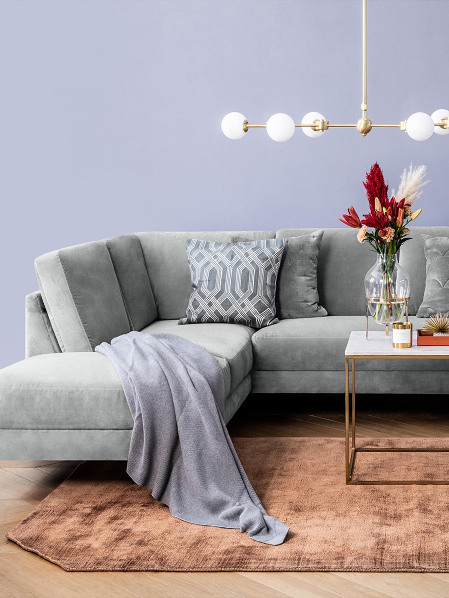 Handgewebter Viskoseteppich Jane Diamond in Terrakotta, Flor: 100% Viskose, Terrakotta, B 160 x L 230 cm (Größe M)