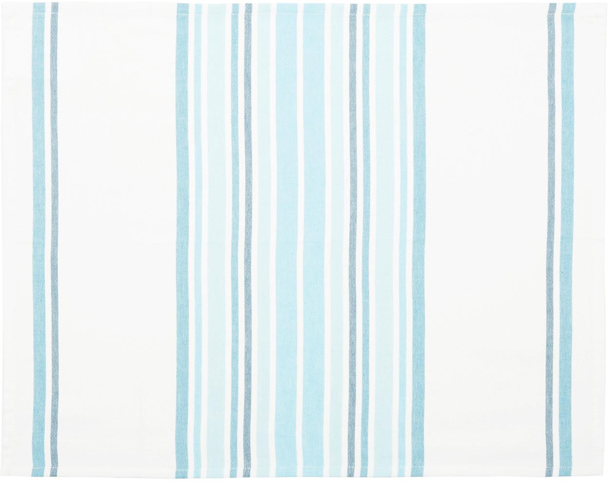 Tovaglietta americana Katie 2 pz, Cotone, Bianco, blu, Larg. 40 x Lung. 50 cm