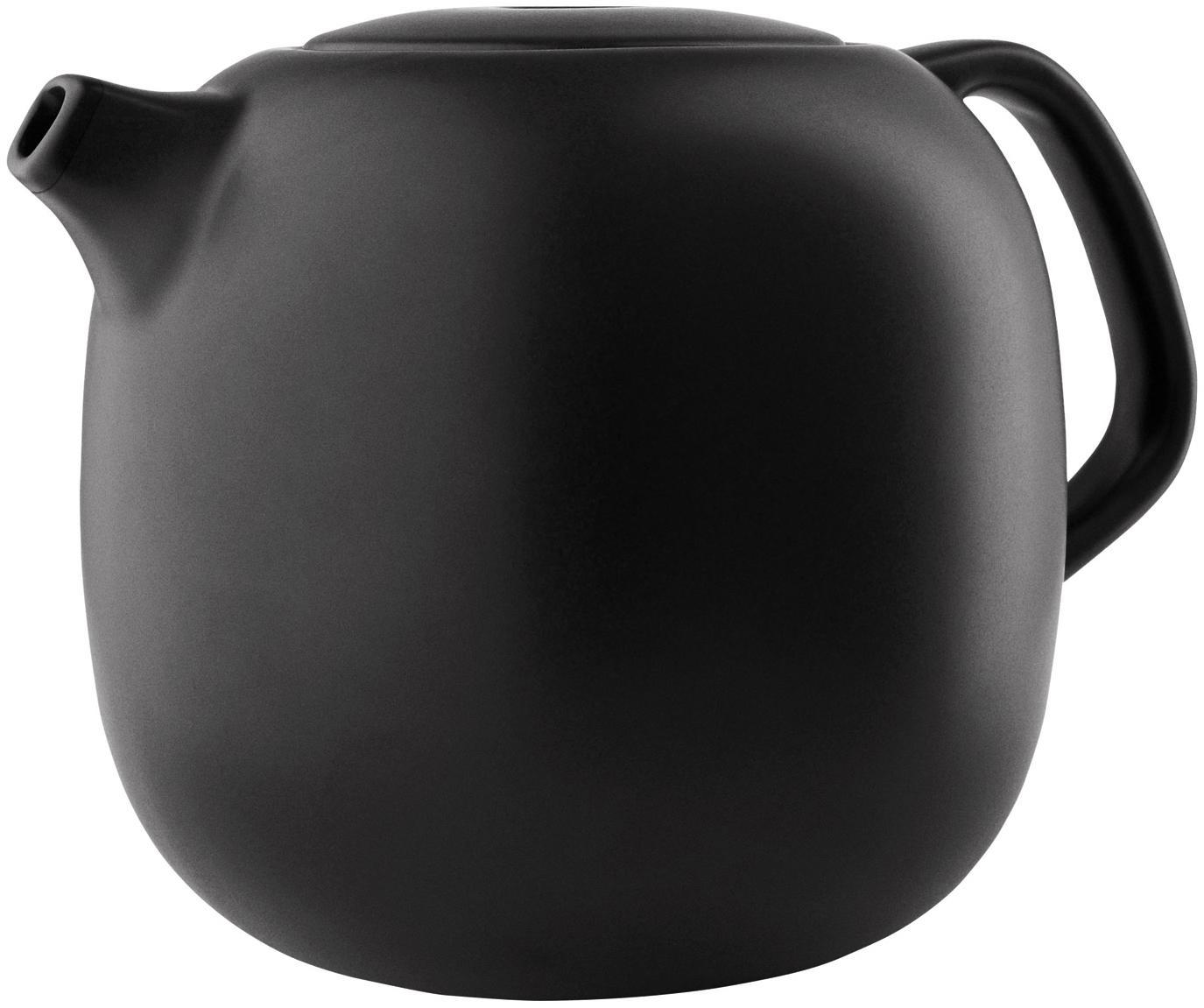 Theepot Nordic Kitchen in mat zwart, Pot: keramiek, Mat zwart, 1 L