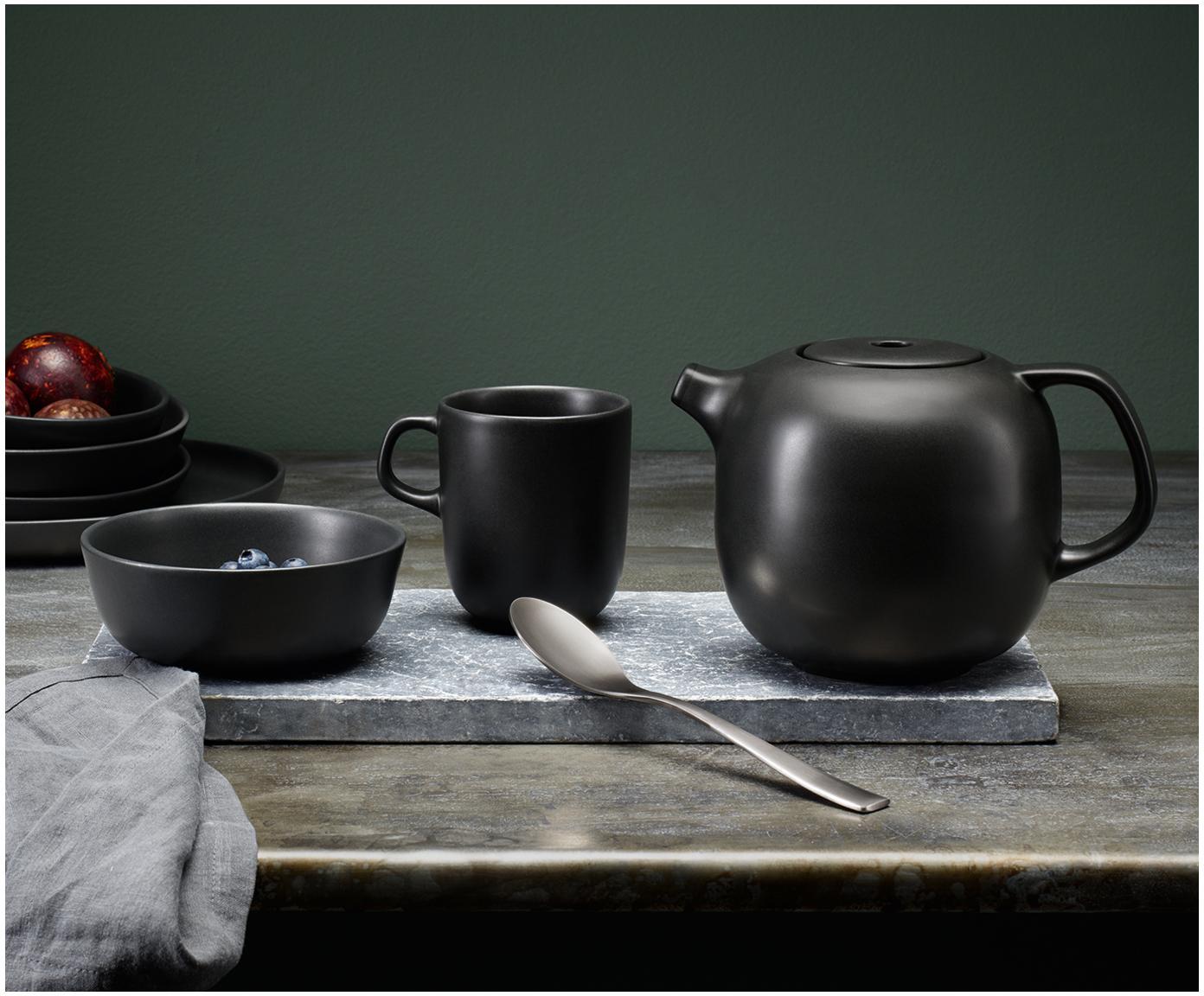 Teekanne Nordic Kitchen in Schwarz matt, Kanne: Steingut, Schwarz, matt, 1 L