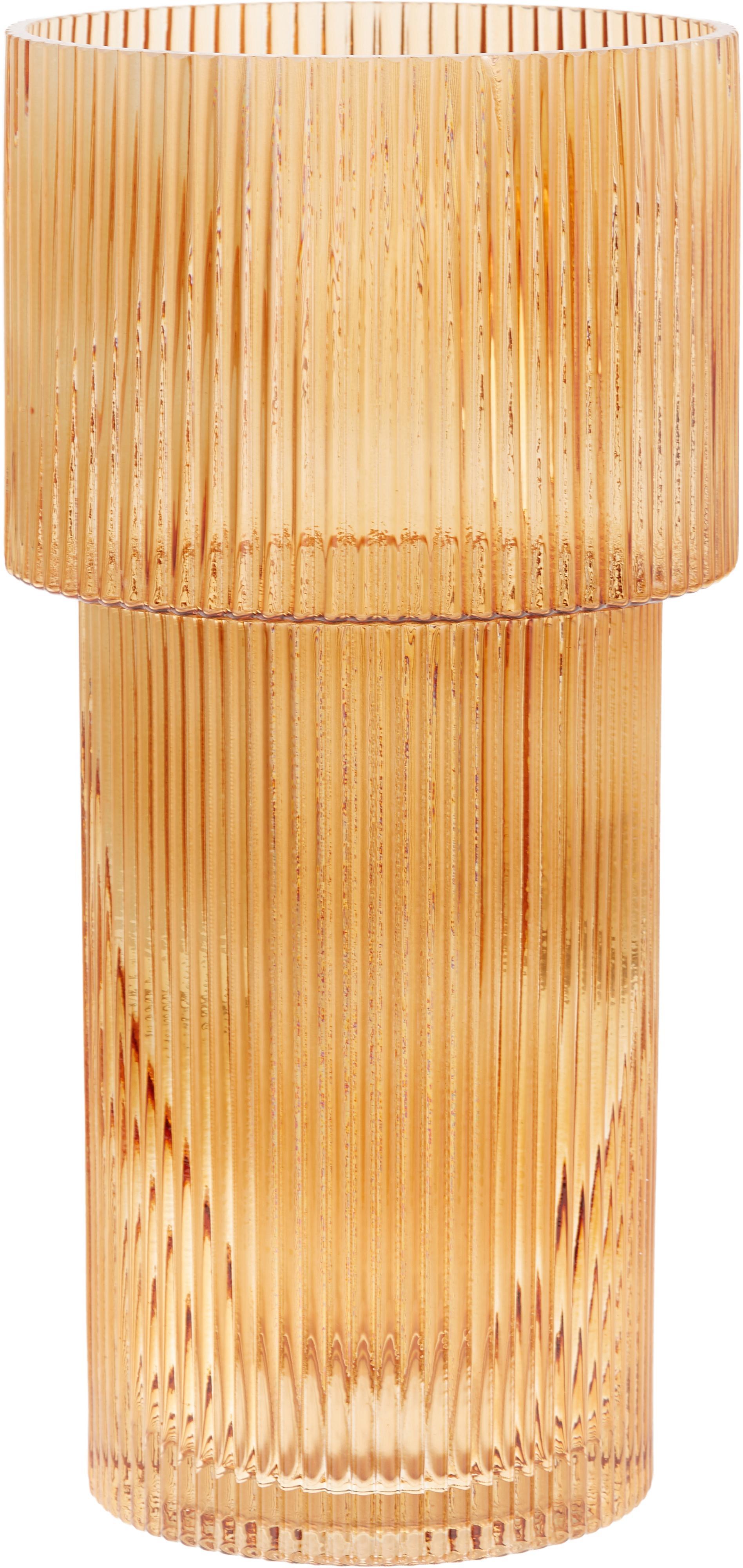 Vaso in vetro Lija, Vetro, Ambra trasparente, Ø 14 x Alt. 30 cm