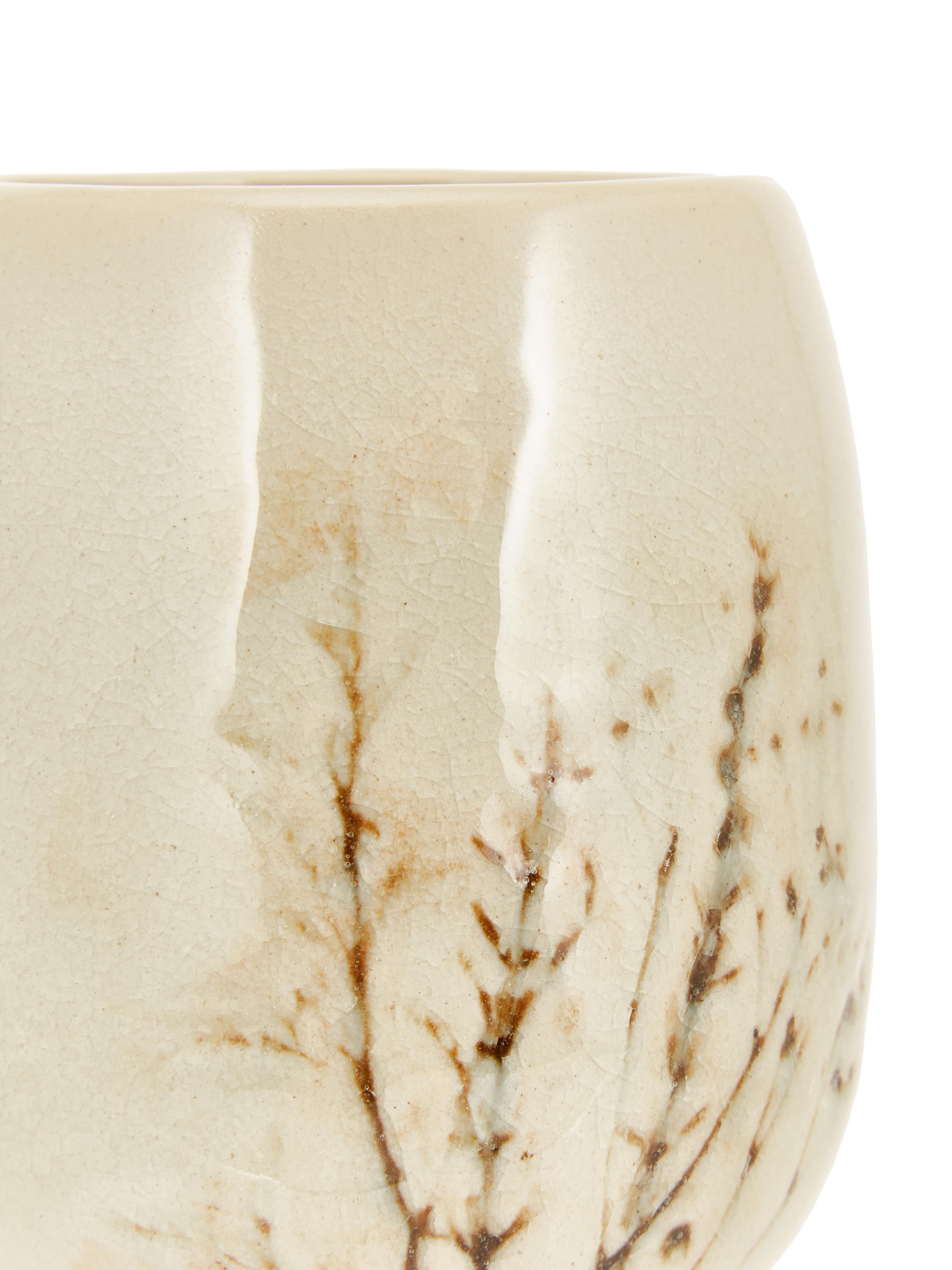 Tazza grande fatta a mano Bea, Terracotta, Beige, multicolore, Ø 10 x Alt. 11 cm