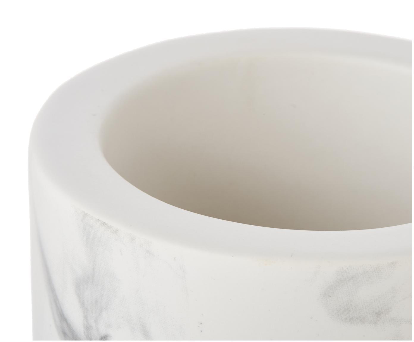 Szczotka toaletowa z ceramiki Daro, Biały, czarny, Ø 10 x W 43 cm