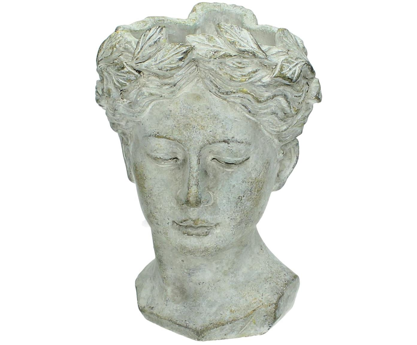 Portavaso Pass, Cemento, Grigio con finitura antica, Larg. 16 x Alt. 22 cm