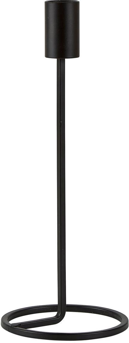 Kerzenhalter Goldie, Metall, Schwarz, Ø 10 x H 24 cm