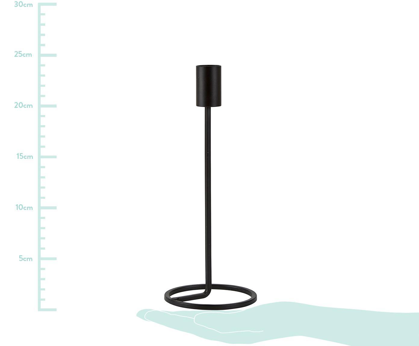 Świecznik Goldie, Metal, Czarny, Ø 10 x W 24 cm