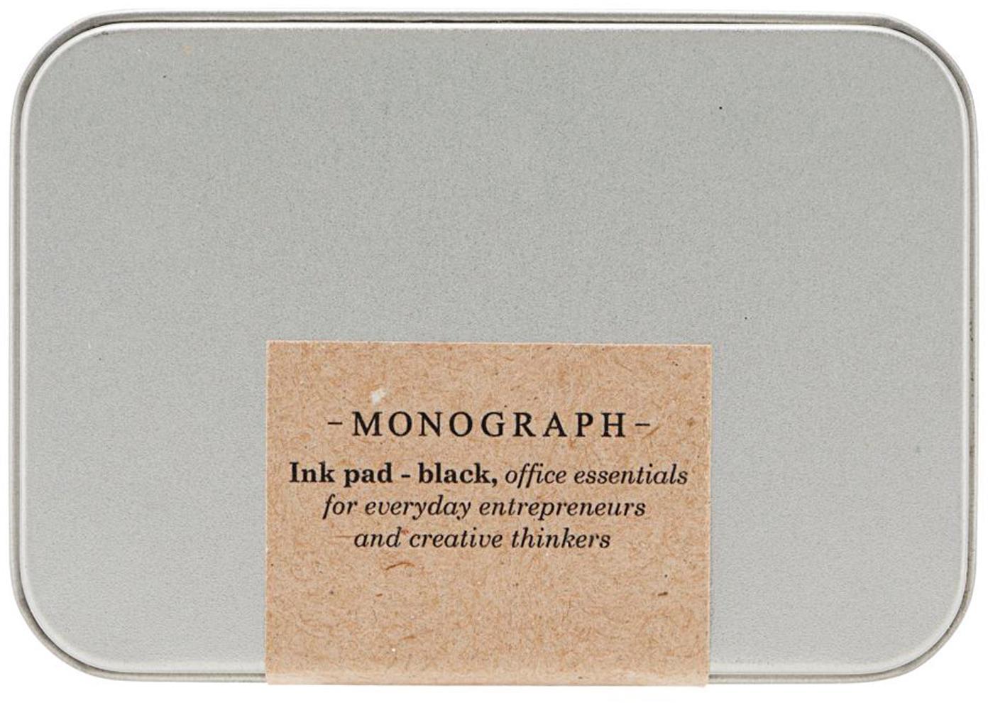 Tampón para sellos Plamm, Caja: metal, Metal, negro, An 9 x Al 2 cm