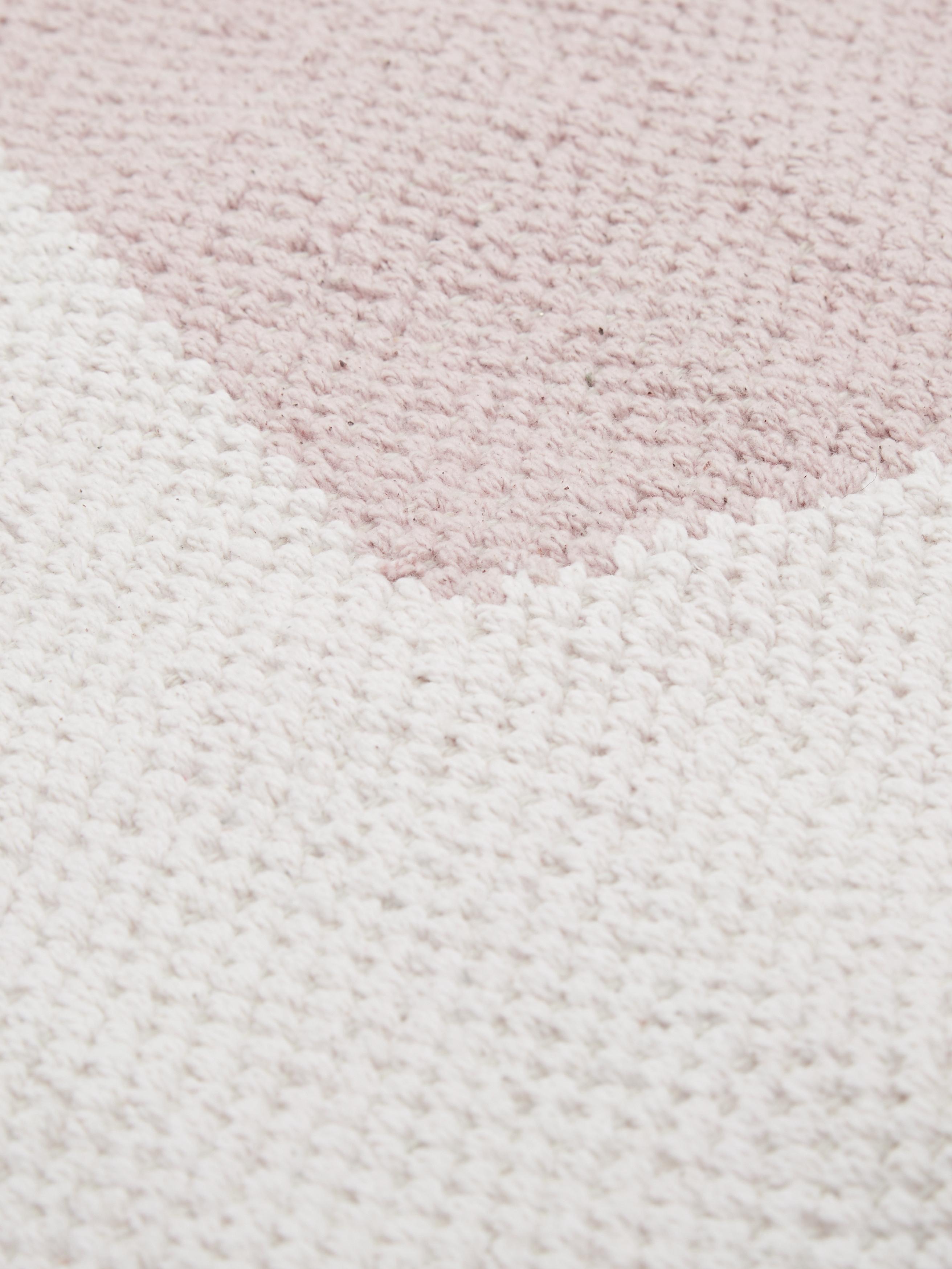 Tappeto in cotone a tessitura piatta Georgio, Cotone, Grigio, beige, rosa, Larg. 200 x Lung. 300 cm (taglia L)