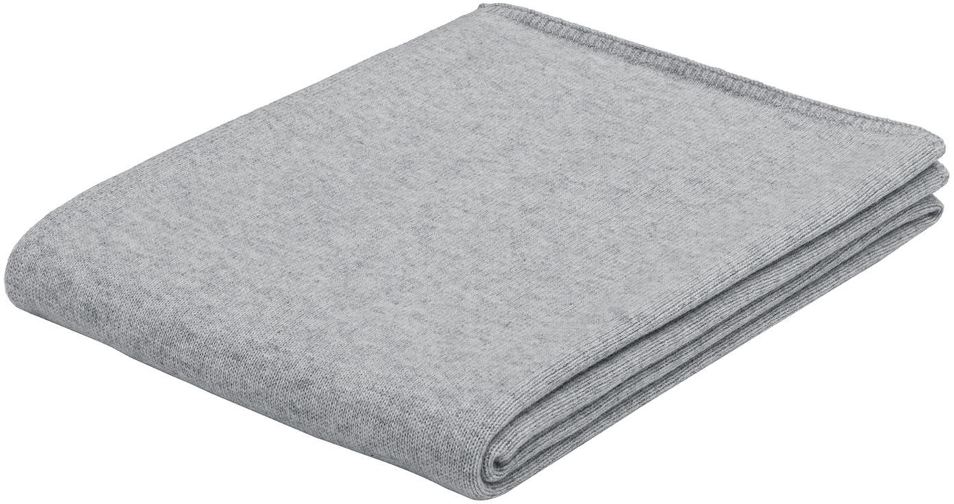 Paid in maglia fine di cashmere Viviana, 70% cashmere, 30% lana merino, Grigio chiaro, Larg. 130 x Lung. 170 cm