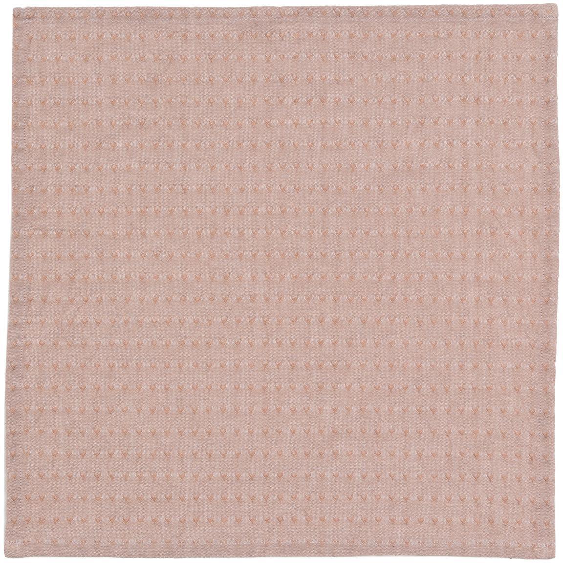 Servilletas de algodón Napel, 4uds., Algodón, Marrón, An 40 x L 40 cm