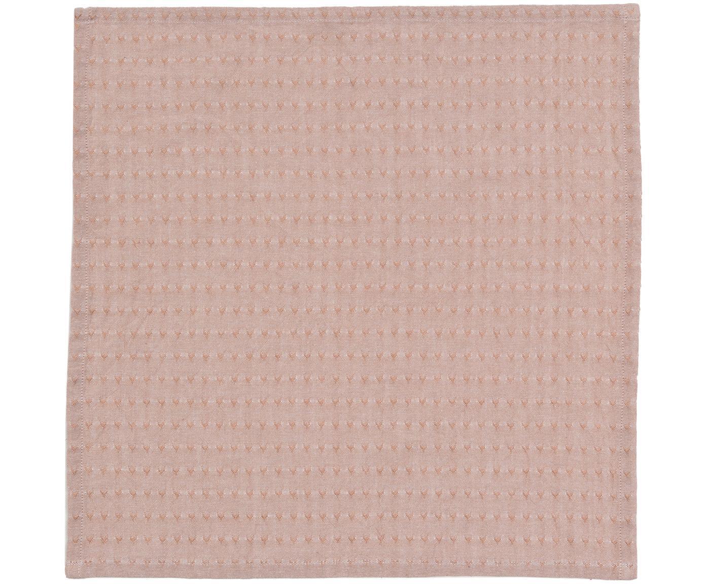 Serwetka z bawełny Napel, 4 szt., Bawełna, Brązowy, S 40 x D 40 cm