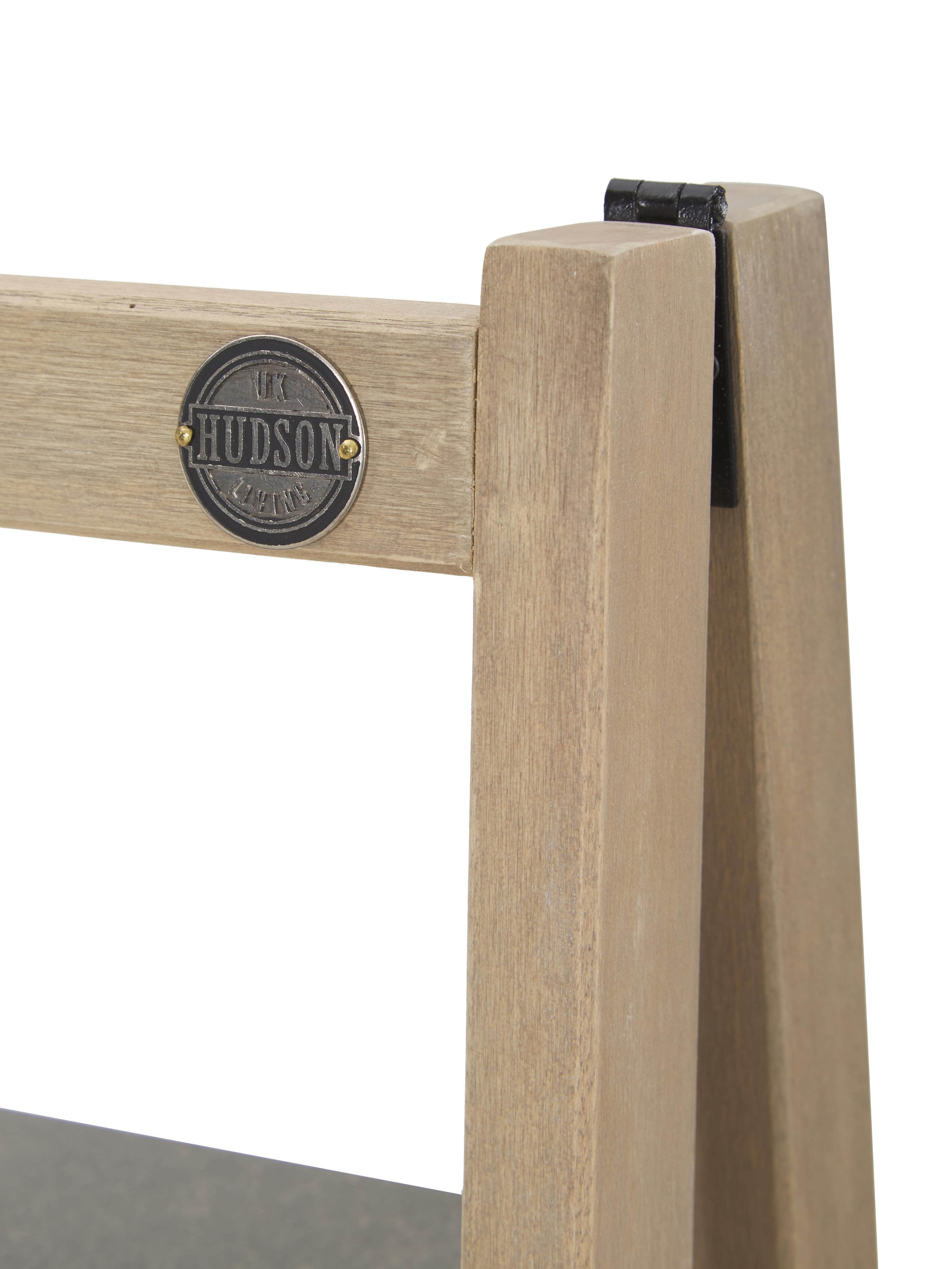 Leiter-Regal Lomborg, Rahmen: Eichenholz, naturbelassen, Eichenholz, Grau, 43 x 136 cm