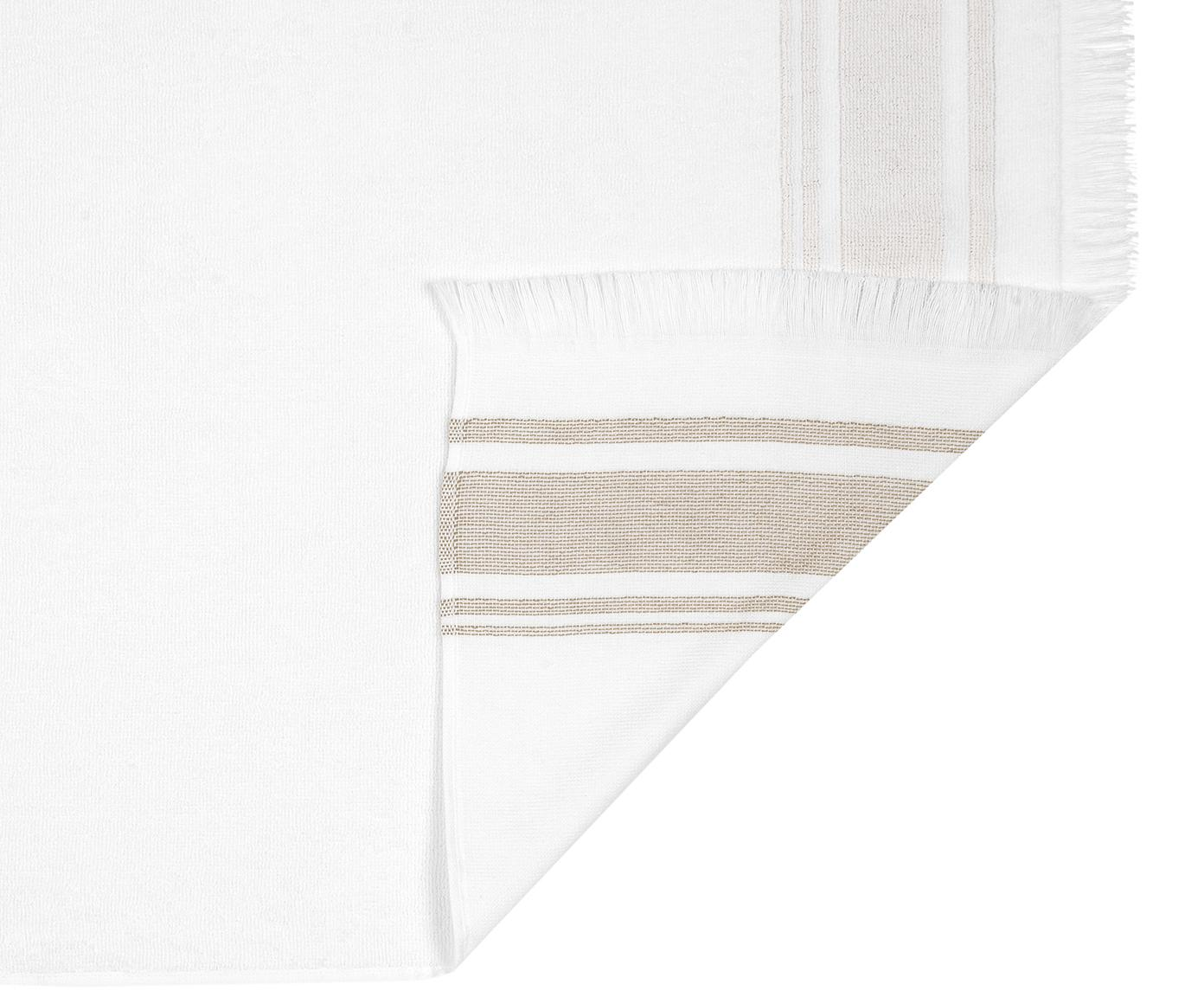 Komplet ręczników Emma, 3 elem., 100% bawełna Niska gramatura 400 g/m², Biały, taupe, Różne rozmiary