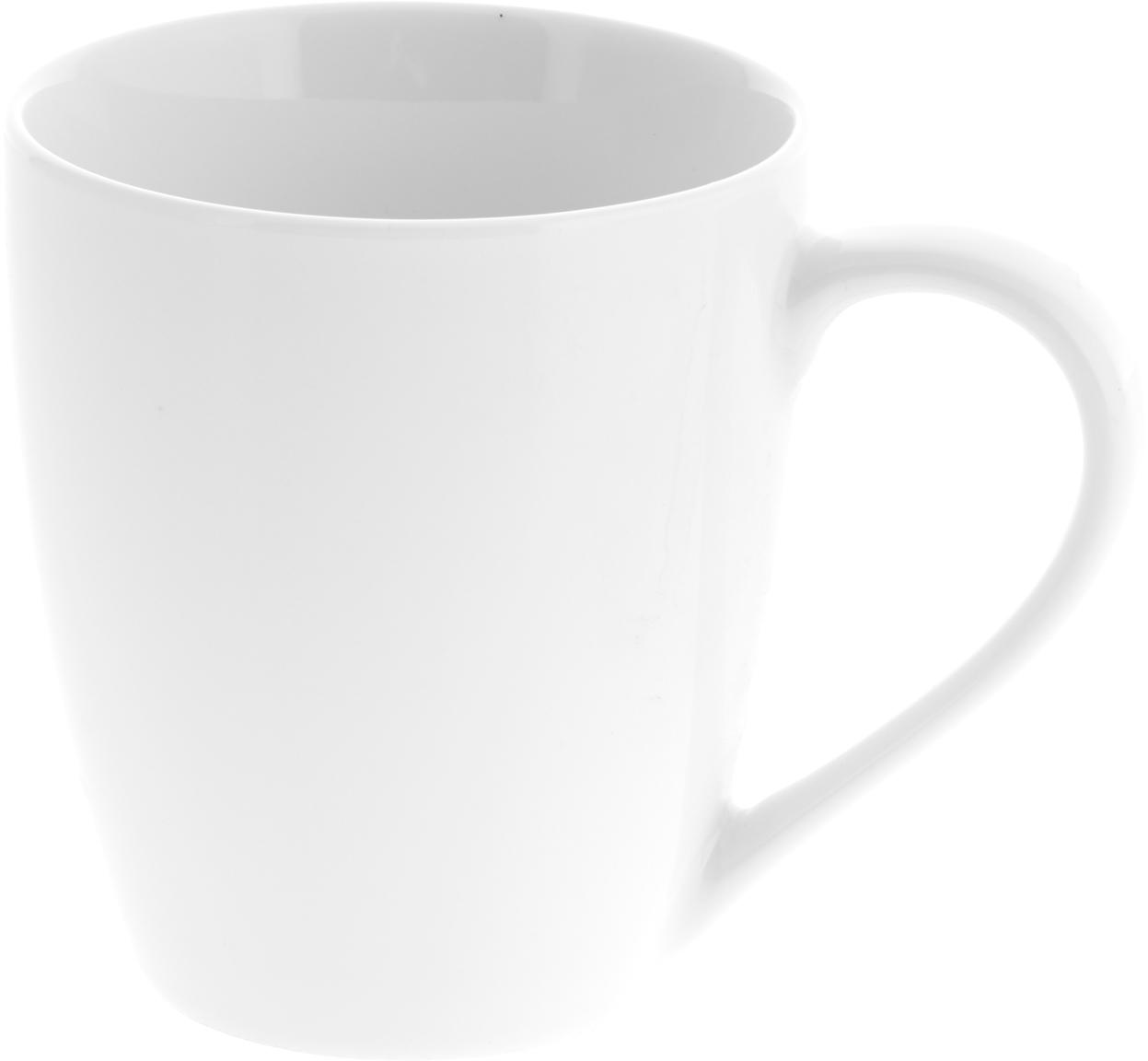 Porzellan-Tassen Delight in Weiss, 2 Stück, Porzellan, Weiss, Ø 9 x H 10 cm
