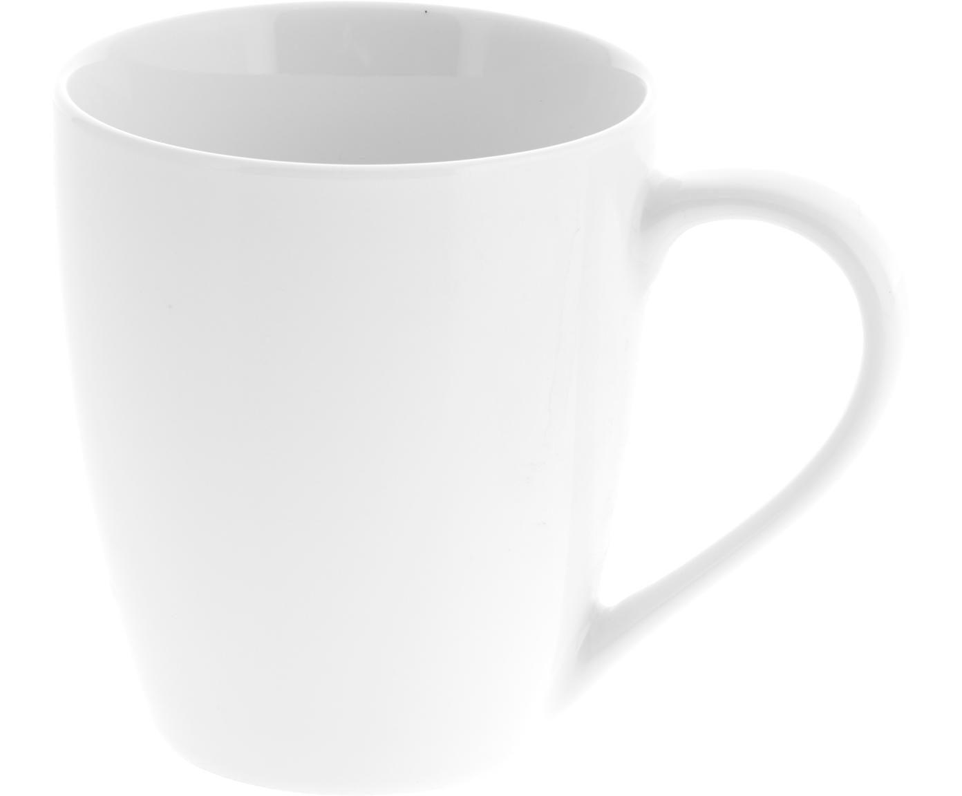Kubek Delight, 2 szt., Porcelana, Biały, Ø 9 x W 10 cm
