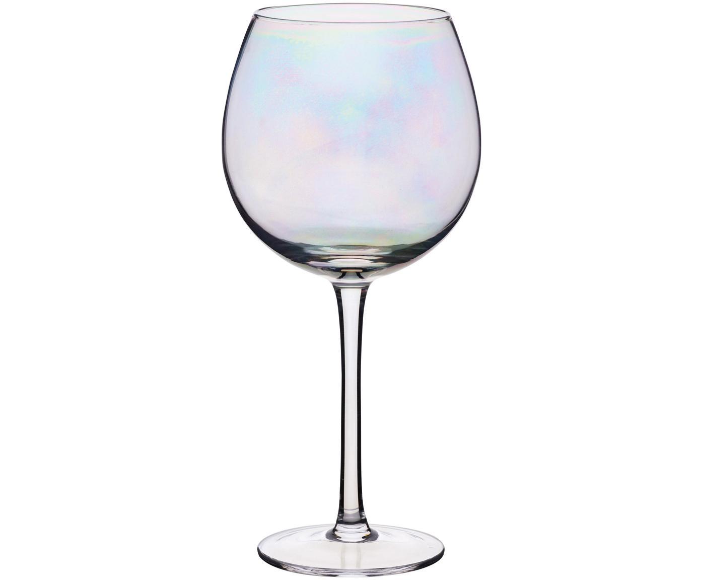 Weingläser Iridescent mit Perlmuttglanz, 2er-Set, Glas, Transparent, Ø 9 x H 22 cm