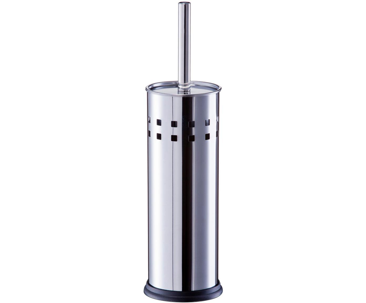 Toilettenbürste Tinni mit Edelstahl-Behälter, Edelstahl, Edelstahl, Ø 10 x H 39 cm