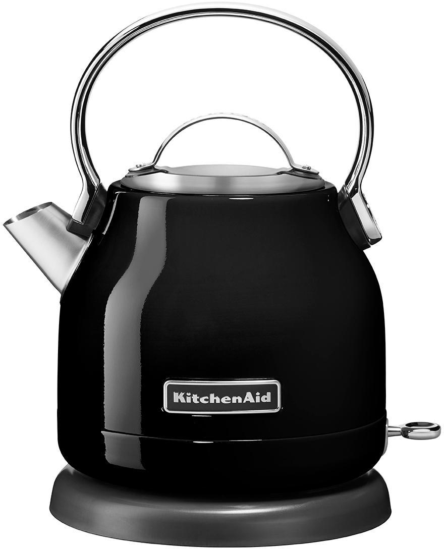 Wasserkocher KitchenAid, Edelstahl, Schwarz, 23 x 26 cm