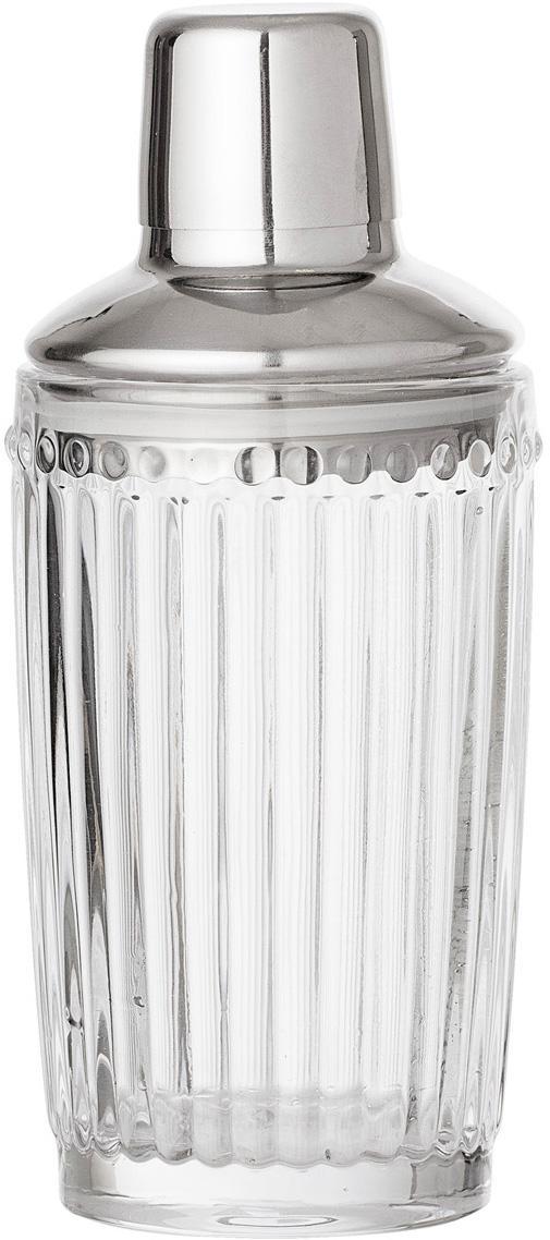 Cocktail Shaker Janni, Glas, Edelstahl, Transparent, Edelstahl, Ø 9 x H 19 cm