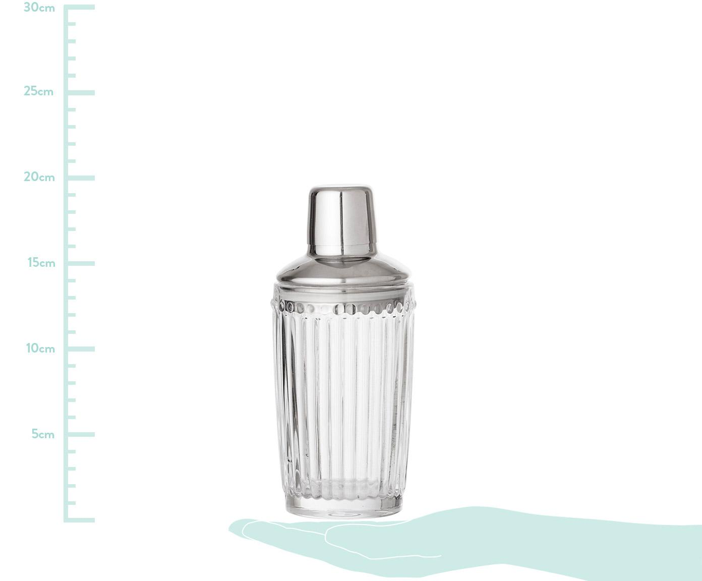 Shaker do koktajli Janni, Szkło, stal szlachetna, Transparentny, stal szlachetna, Ø 9 x 19 cm