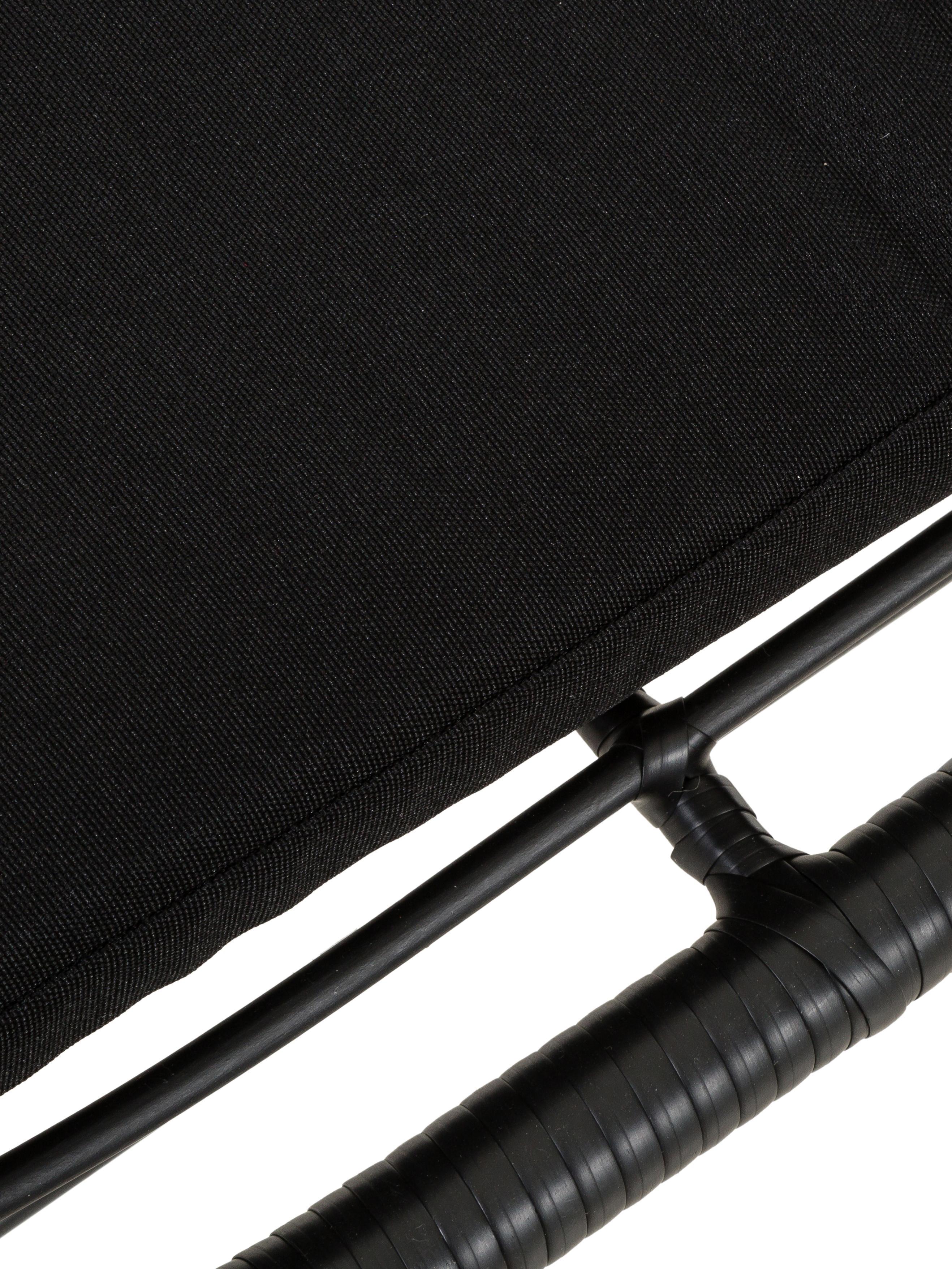 Poltrona da giardino intrecciata Sola, Seduta: polietilene-intreccio, Struttura: metallo, verniciato a pol, Nero, Larg. 90 x Prof. 89 cm