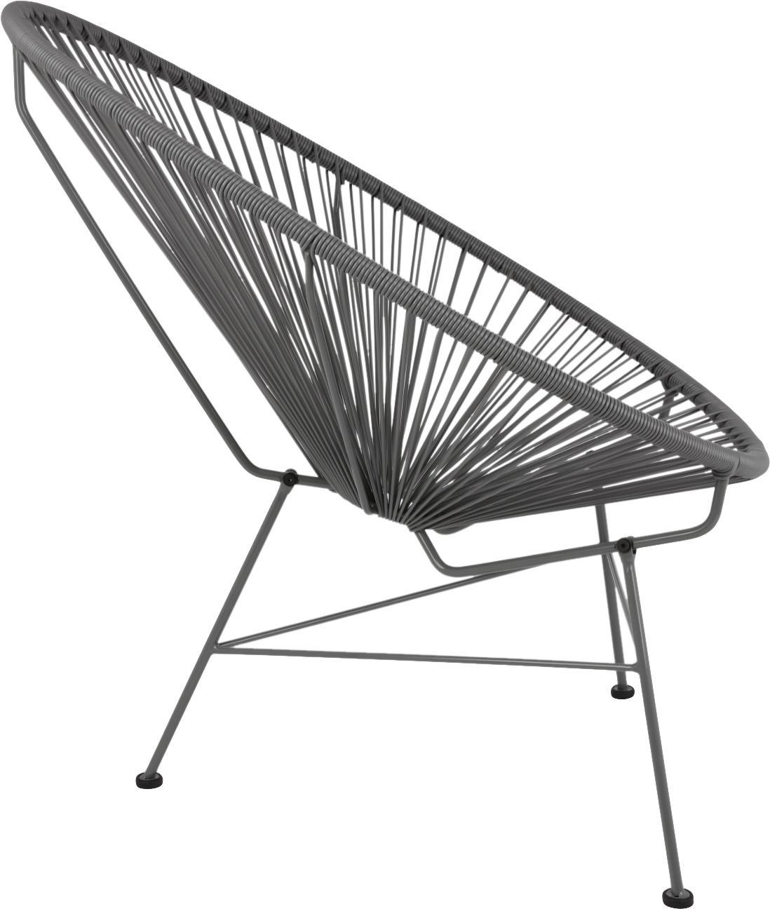 Sillón Bahia, Asiento: plástico, Estructura: metal con pintura en polv, Gris, An 81 x F 73 cm