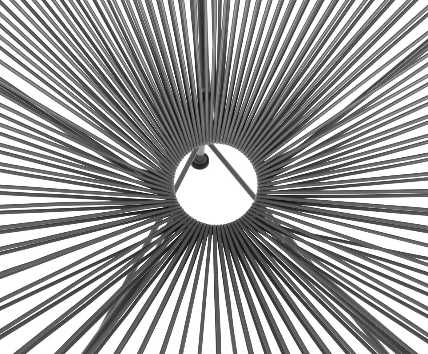 Fauteuil acapulco en plastique tressé Bahia, Plastique: gris Structure: gris