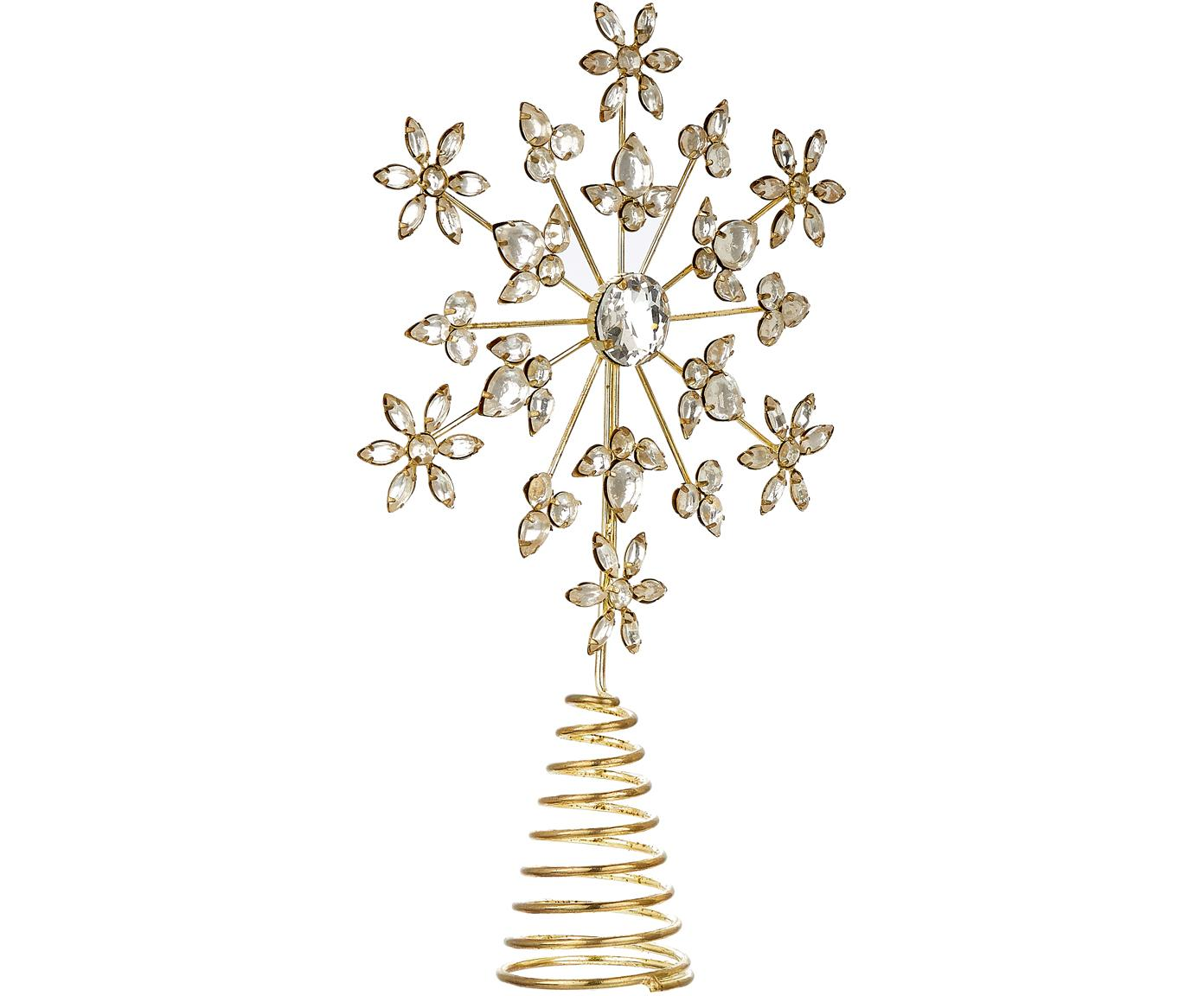 Puntale per albero di Natale Juwel, Struttura: metallo, rivestito, Dorato, Larg. 18 x Alt. 29 cm