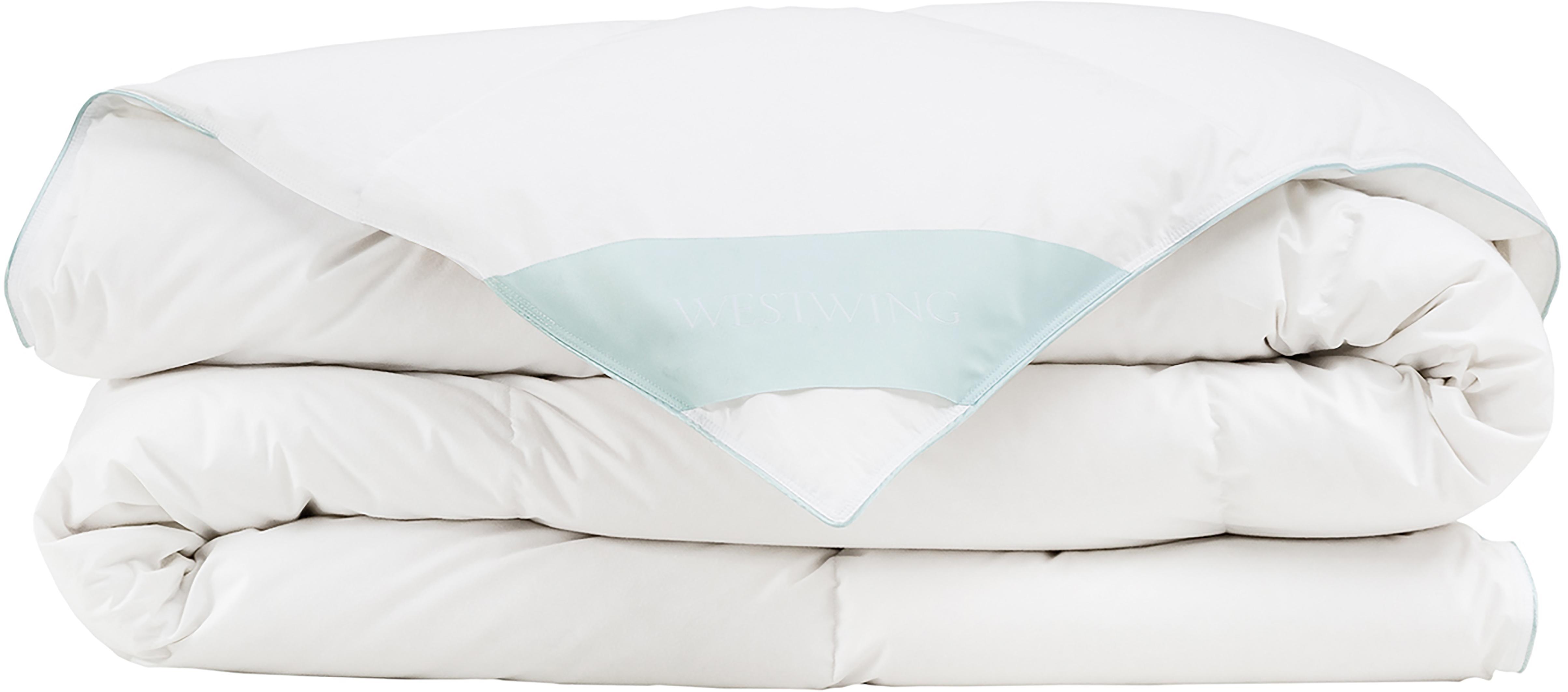 Puchowa kołdra kasetowa Comfort, średnio ciepła, Biały, S 135 x D 200 cm