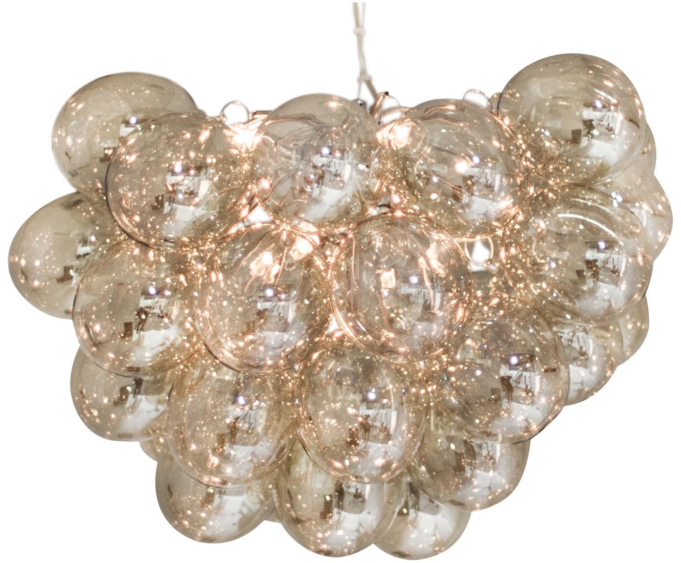 Lampada a sospensione con sfere di vetro Gross, Ambra, Ø 50 x Alt. 50 cm