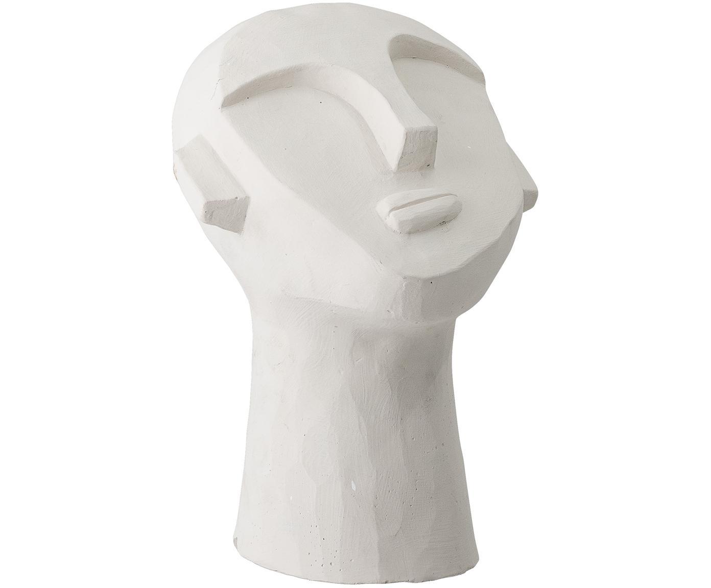 Figura decorativa Man, Cemento pintado, Blanco, An 18 x Al 22 cm