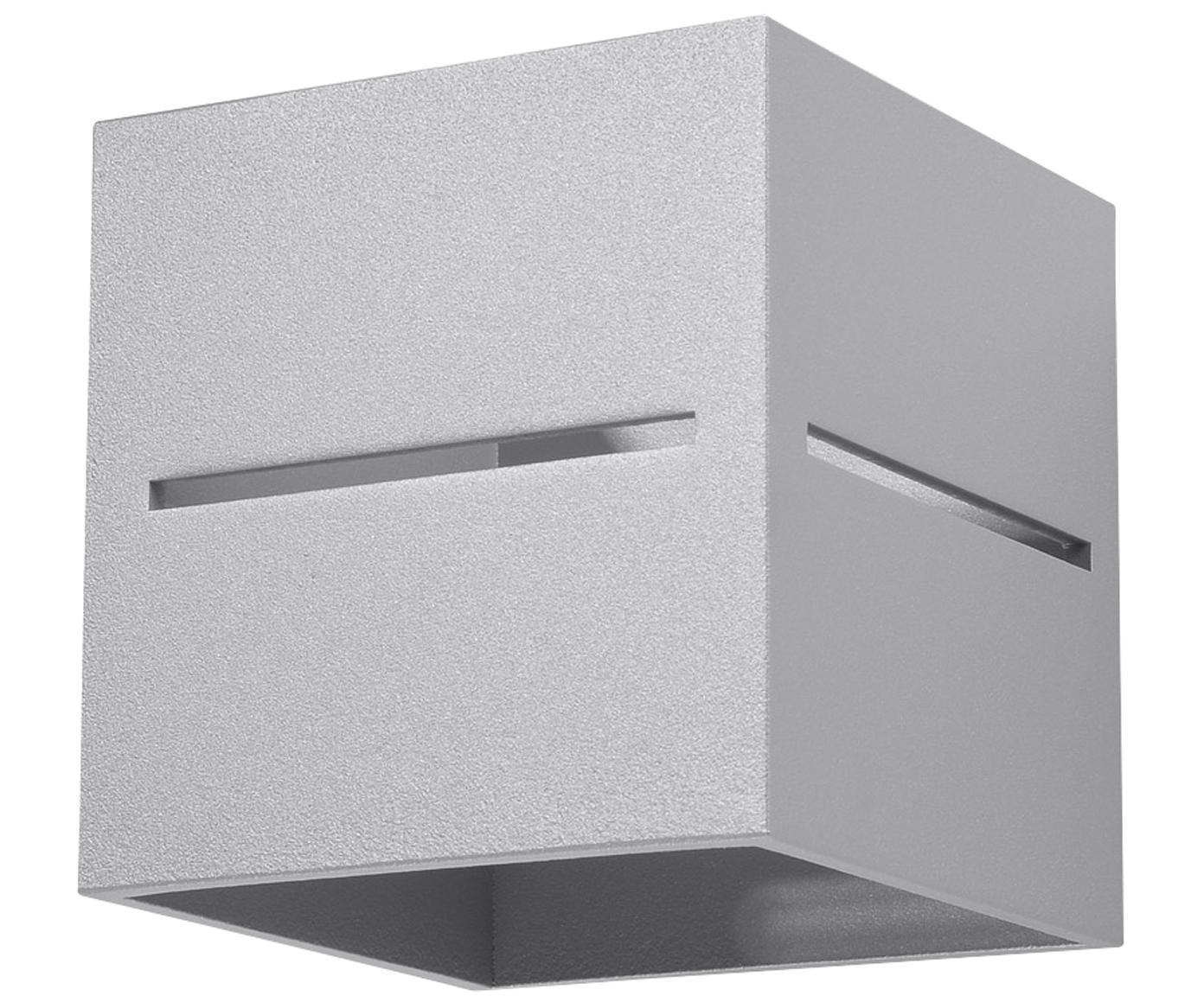 Applique Lorum, Alluminio, Grigio chiaro, Larg. 10 x Alt. 10 cm