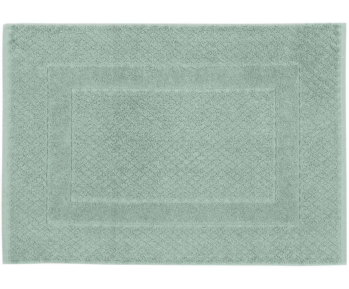 Dywanik łazienkowy Katharina, 100% bawełna, wysoka gramatura, 900g/m², Miętowy, S 50 x D 70 cm