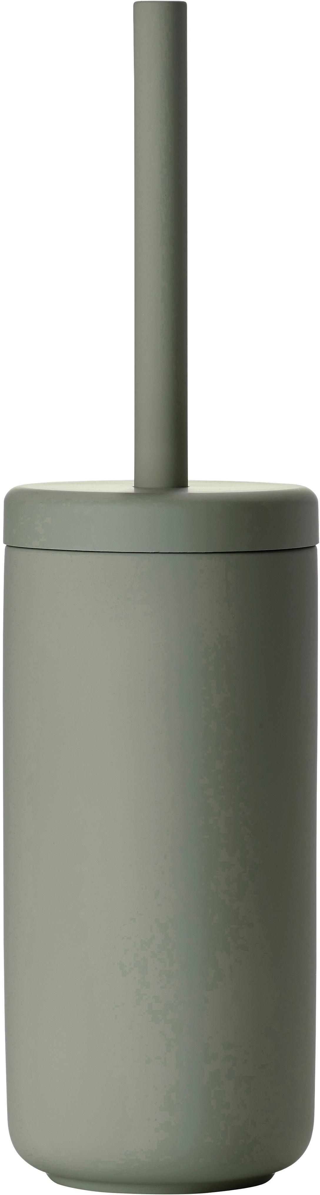 Scopino Ume, Contenitore: terracotta rivestita con , Manico: materiale sintetico, Verde eucalipto, Ø 10 x Alt. 39 cm
