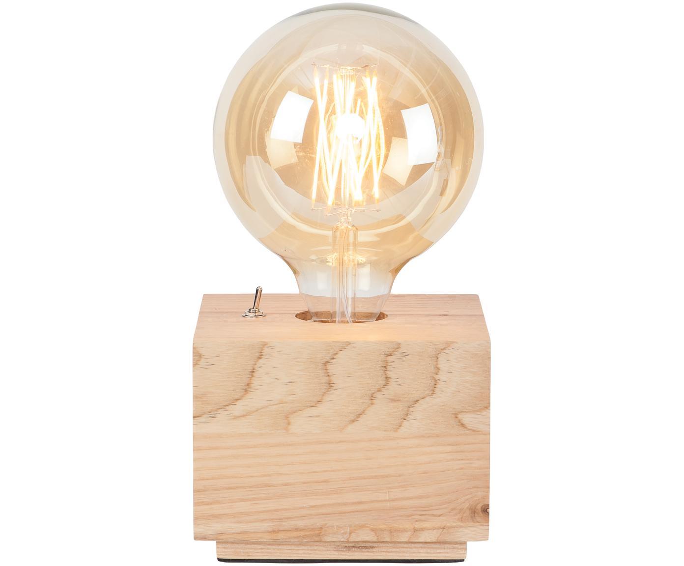 Tafellamp Kobe Square van essenhout, Lamp: essenhout, Essenhout, 13 x 10 cm