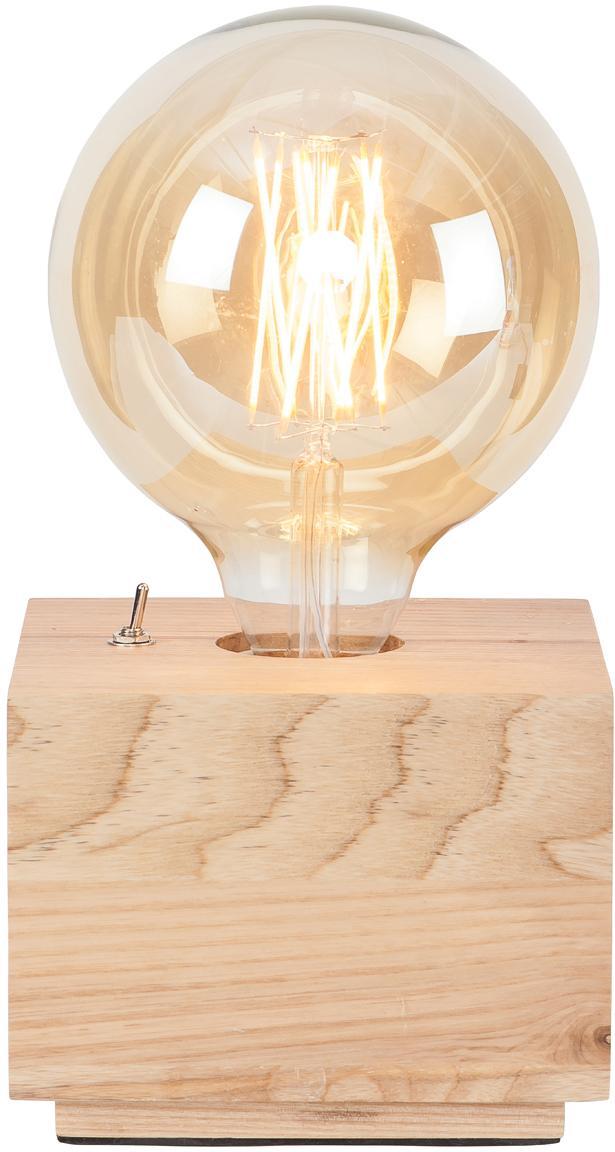 Lampada da tavolo in legno di frassino Kobe Square, Lampada: legno di frassino, Legno di frassino, Larg. 13 x Alt. 10 cm