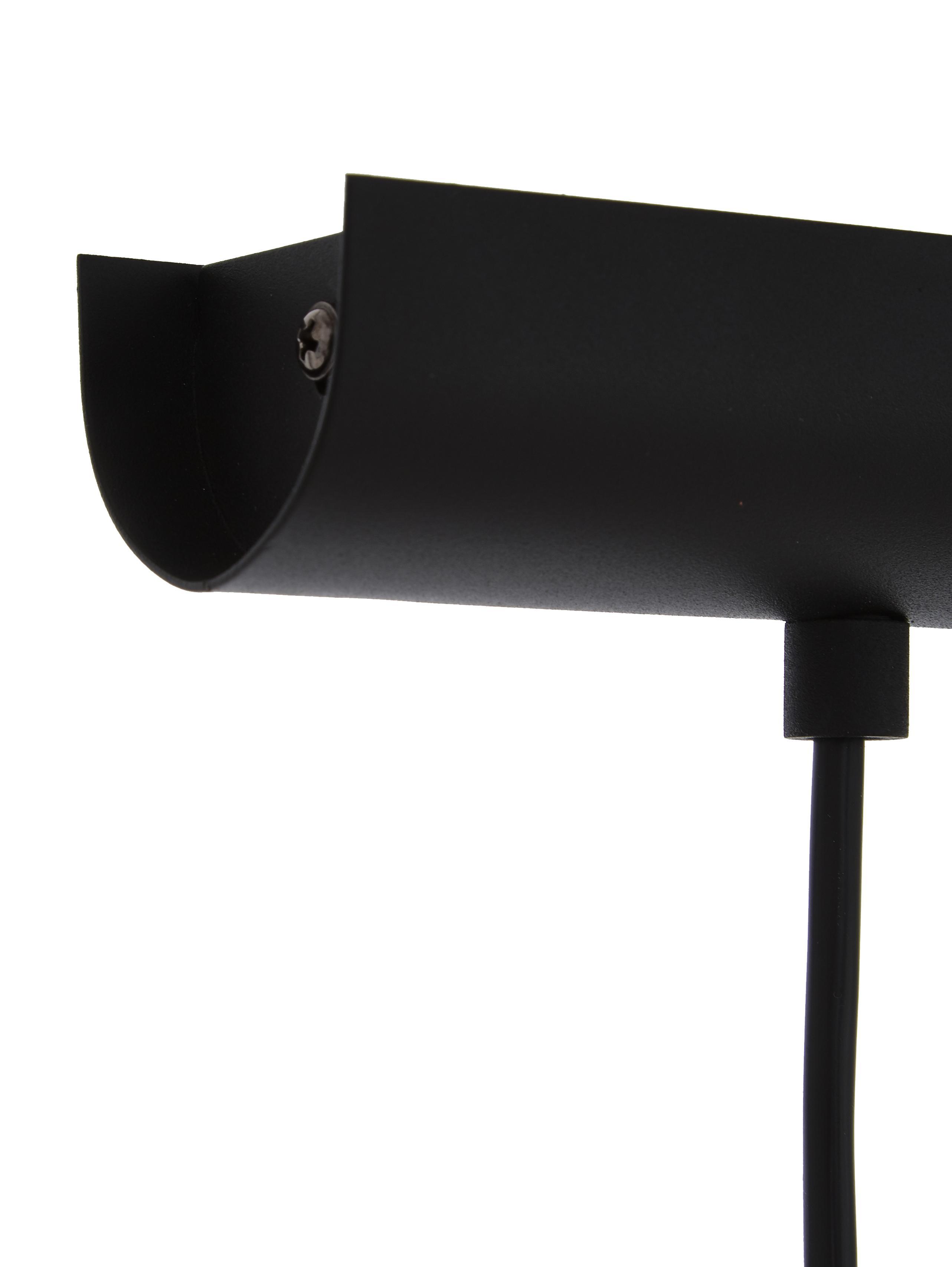 Große Pendelleuchte Priddy, Stahl, lackiert, Schwarz, 98 x 20 cm