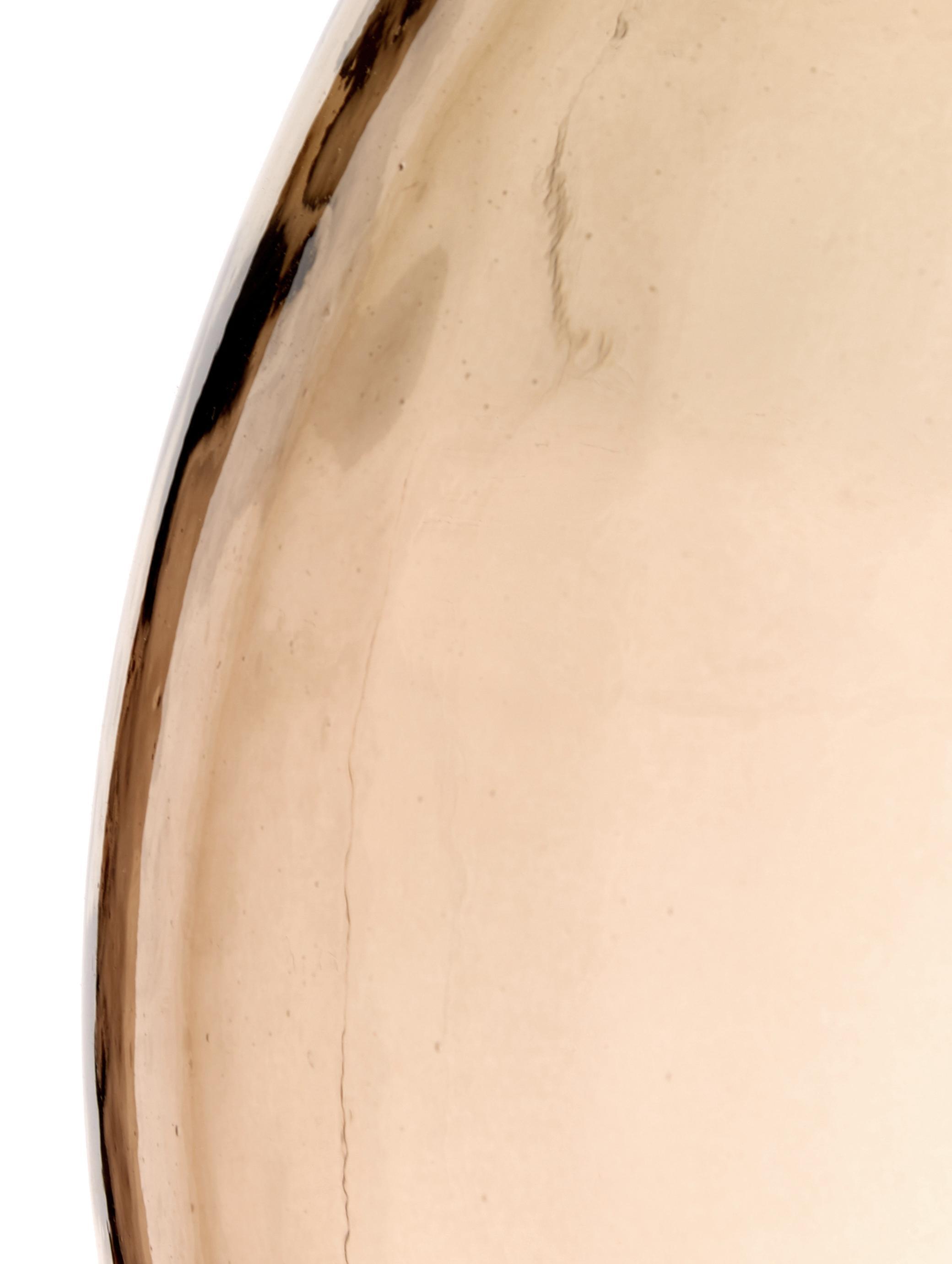 Jarrón de suelo Drop, Vidrio reciclado, ámbar, Ø 40 x Al 56 cm