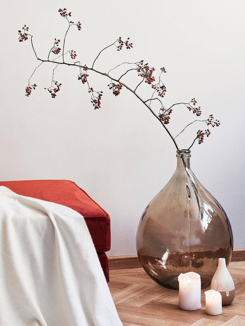Bodenvase Drop, Recyceltes Glas, Bernsteinfarben, Ø 40 x H 56 cm
