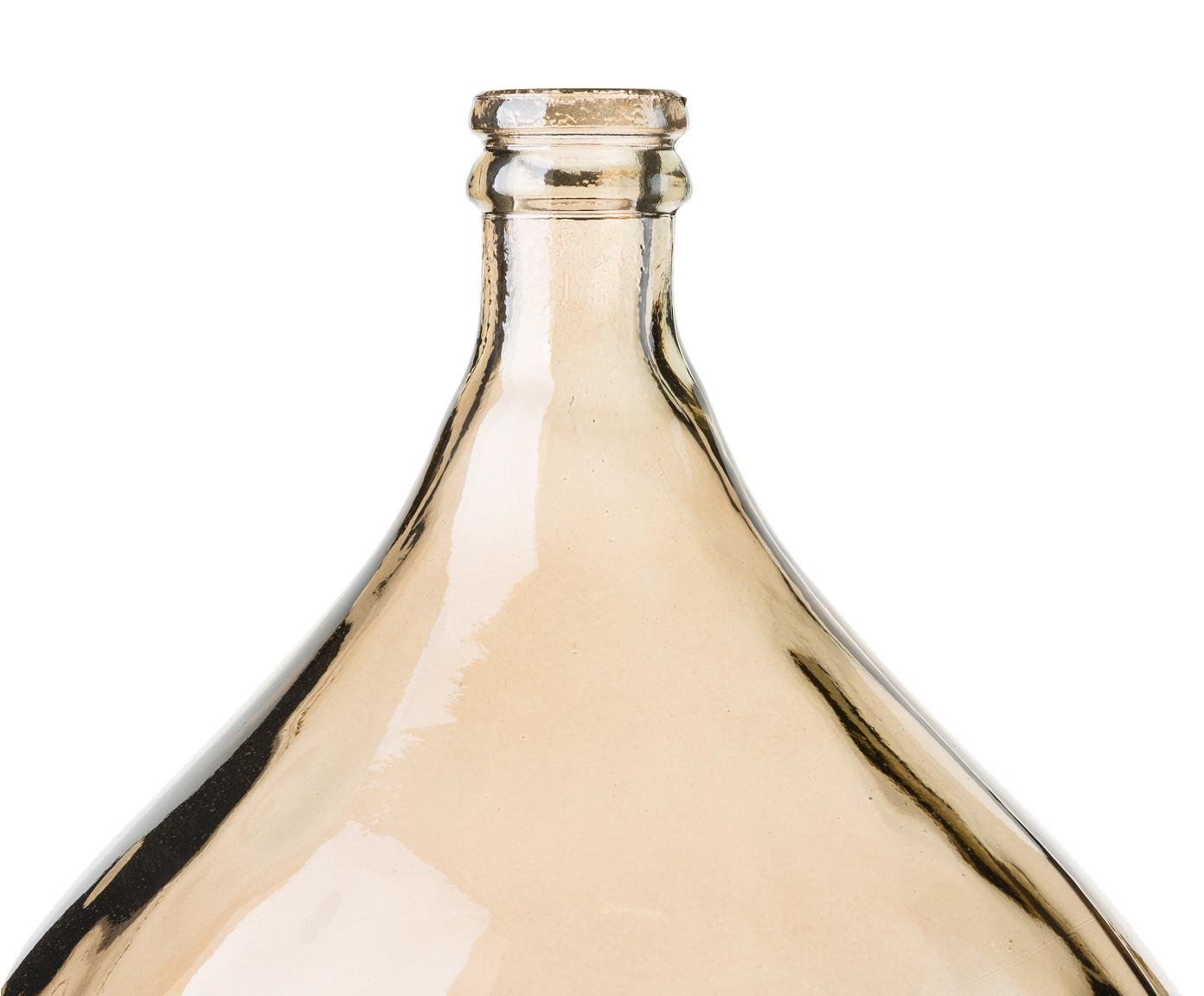 Wazon podłogowy Drop, Szkło recyklingowe, Bursztynowy, Ø 40 x W 56 cm