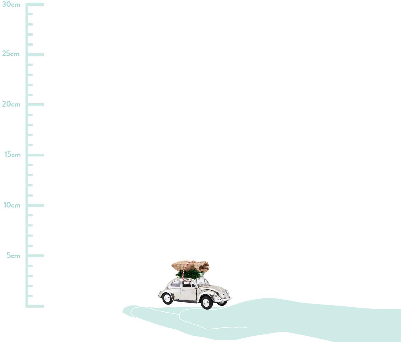 Deko-Objekt XMAS Delivery, Zink, Plastik, Chrom, Grün, Beige, 5 x 7 cm